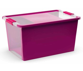 Bi-box opbergbox l violet 40l 58x35,2xhh44.5cm