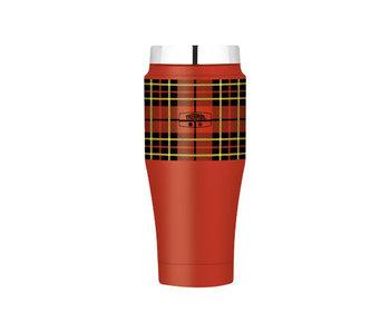 Heritage tumbler mug 470ml rood geruit8,5x8,5xh19,5cm