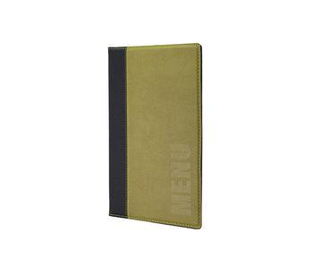 Trendy menuhouder groen 25.3x17.7x0.8cmleather style 4xa5