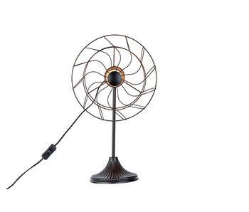 Lamp ventilator zwart 32x22,5xh53cm metaal
