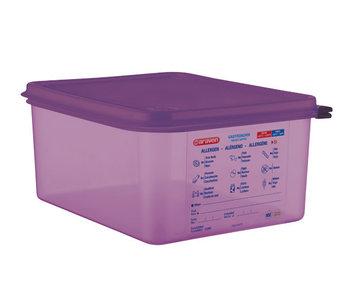 Airtight food cont gn1-2 purper 10l 32.5x26.5x15cm polypropyleen