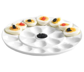 Presentatiebord voor eieren wit d26cm