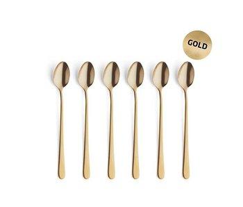 Set vintage6 cuillères à thé glacé or