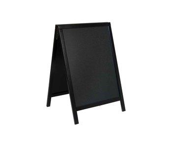Woody stoepkrijtbord zwart 54.5x44x85cmframe pinewood zwart