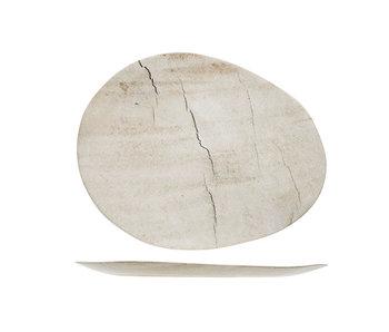 Lithos bord ovaal 27x21.2xh1.6cm