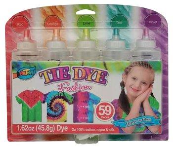TIE DYE fashion verfset - Red/orange/lime/teal/violet