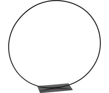 Cercle métal noir 38 cm
