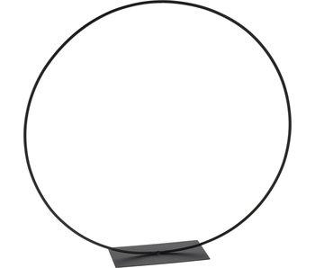 Cirkel metaal zwart 38 cm