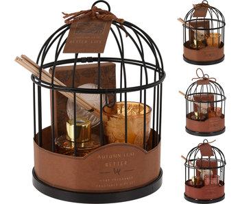 Coffret parfum 3 cage à oiseaux 20 cm
