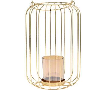 Lanterne métal 26 cm or