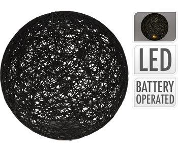 Boule 5 LED 20 cm noir