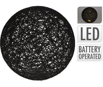 Boule 5 LED 25 cm noir