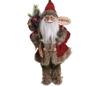 Kerstman staand 37 cm bruin