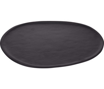 Sous assiette ovale 35 cm noir mat