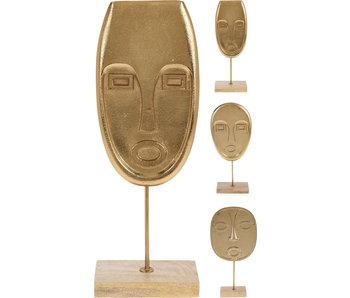 Masque 2 sur standard 34 cm - visage en forme d'oeuf