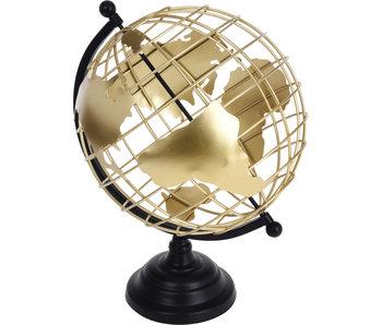 Globe en métal 28x35 cm - noir
