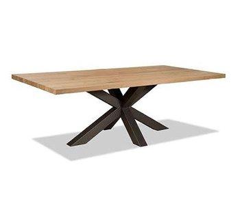 Table de salle à manger tronc de manguier - 220x100x76cm