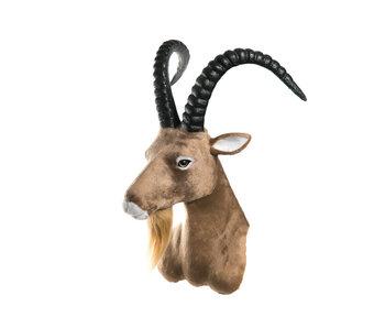 Tête de chèvre 37 cm marron