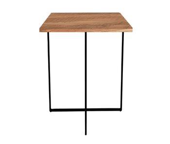 Hamilton Living Table d'appoint Valeria bois/métal 45x45x40