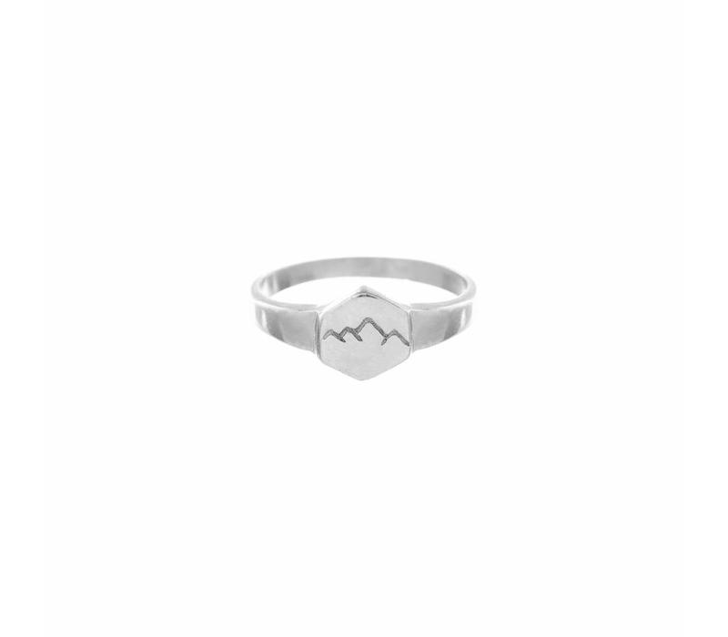 Scenic Signet Ring Silver
