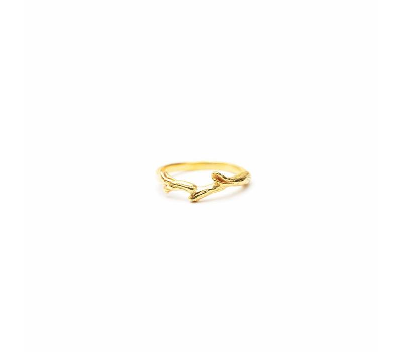 Breathe Ring Gold Plated