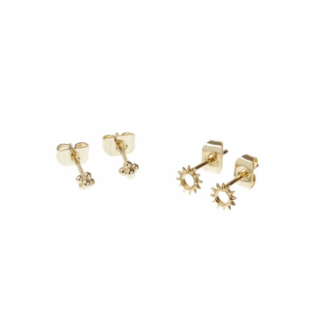7a913dee211 Rise and Shine Studs Gold Plated - Riverstones
