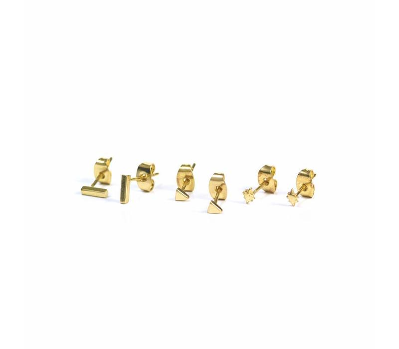 Tribe Studs Gold Plated