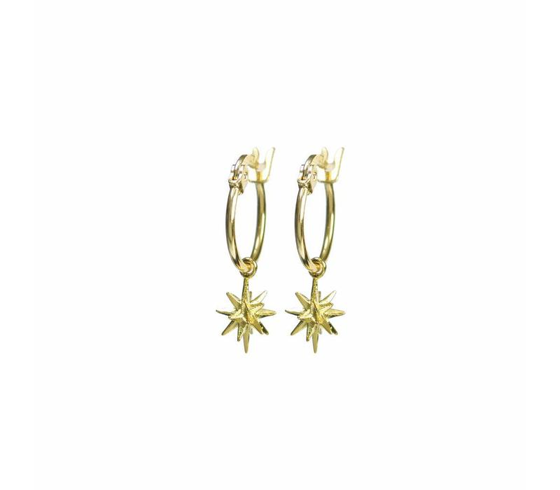 Rise Earrings Gold Plated