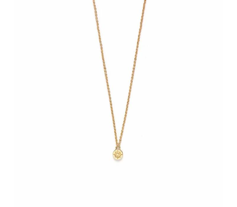 Compass Necklace Gold Plated