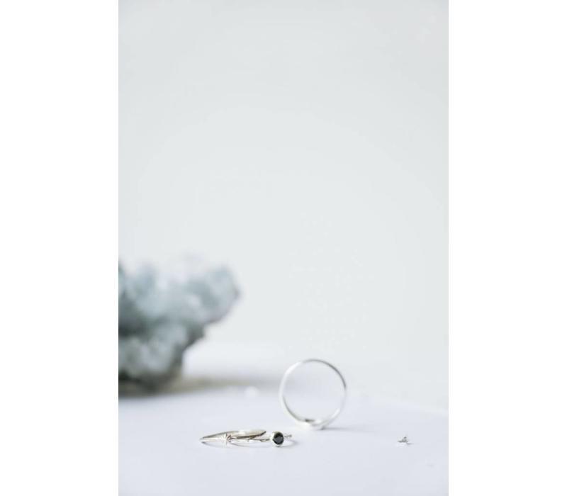 Reverie Ring Zilver Zwart