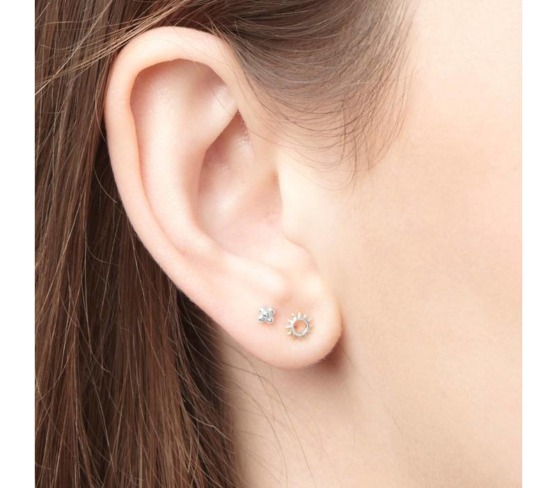 Rise and Shine Studs Silver Plated