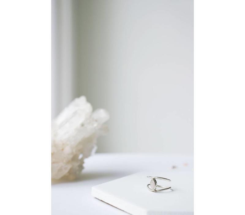 Blush Ring Silver