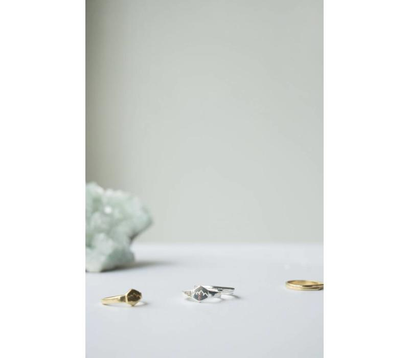 Scenic Signet Ring Zilver