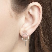 Desire Studs Silver Plated