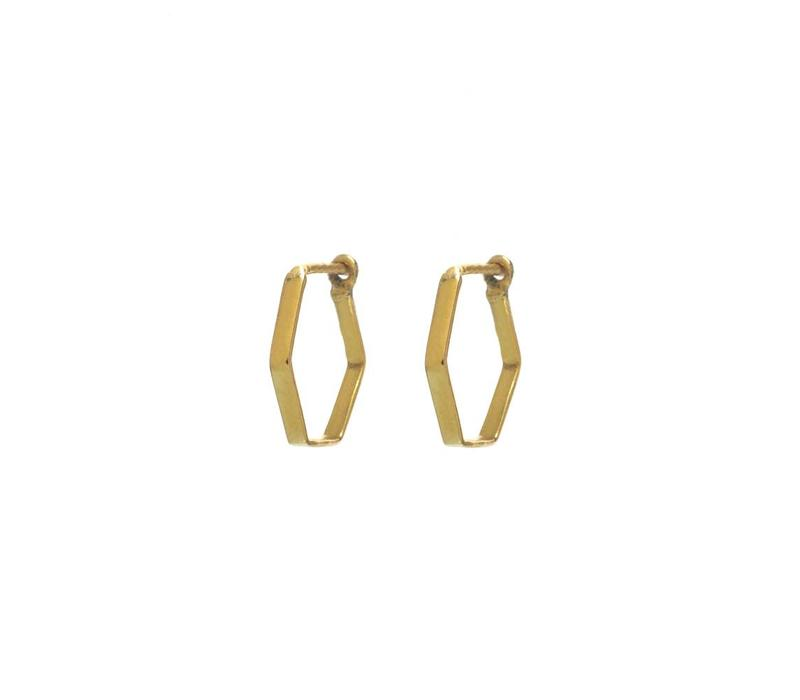 Prisma Hoops Gold Plated