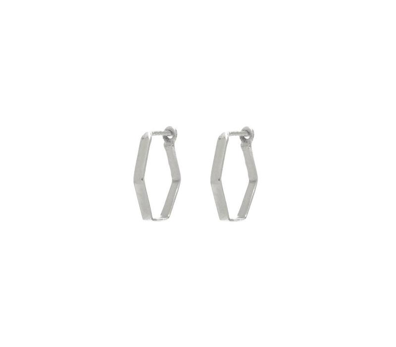 Prisma Hoops Silver Plated