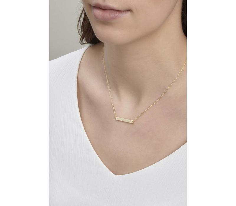 Ssshh Necklace Gold Plated
