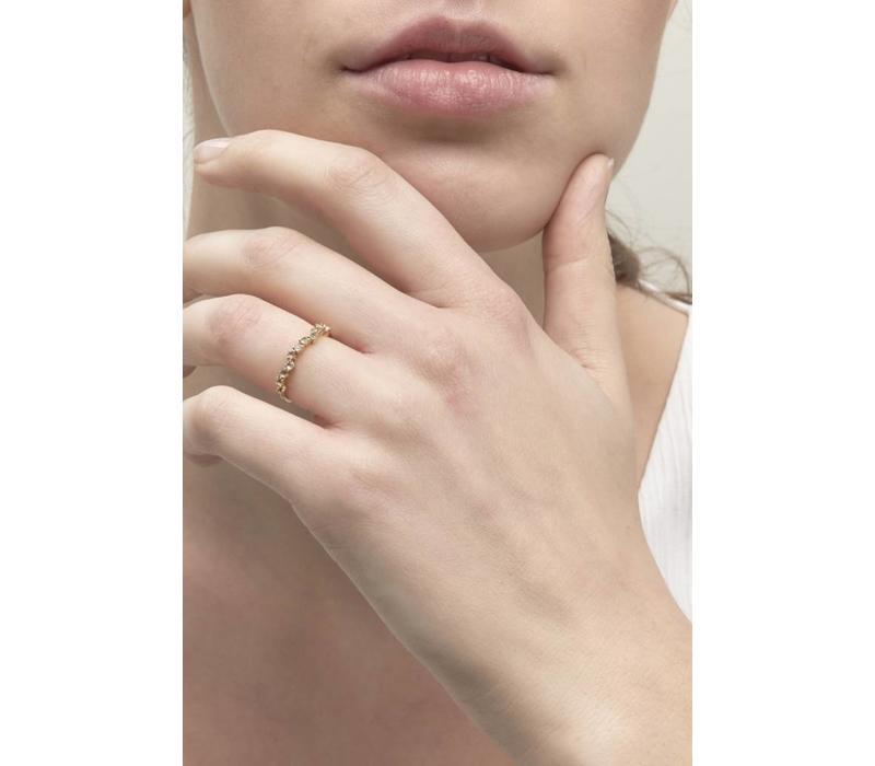Crystallized Ring 18krt Goud
