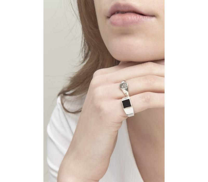 Stellar Signet Ring Zilver