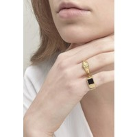 Stellar Signet Ring Gold Plated