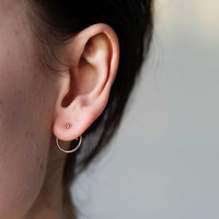 Ace Studs Silver Plated