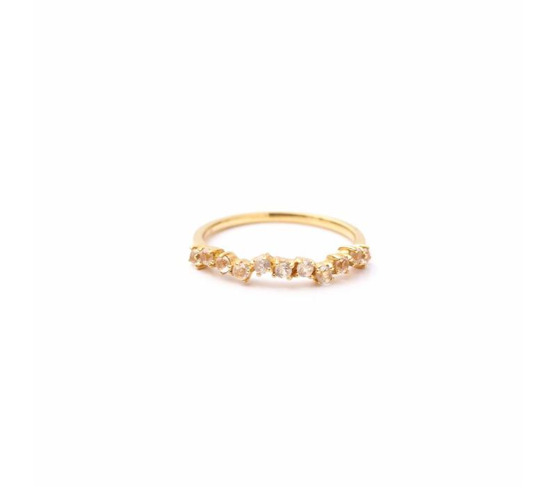 Crystallized Ring 18krt Gold