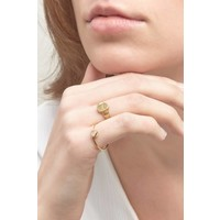 Unwind Signet Ring Gold
