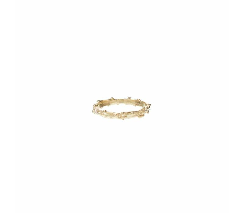 Droplet Ring Gold Plated