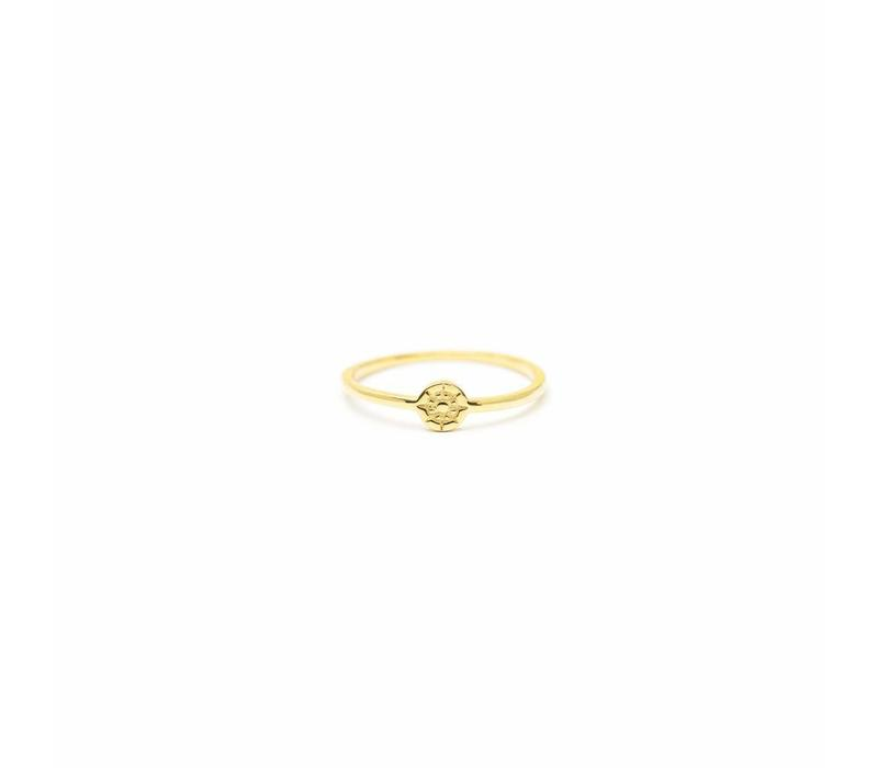 Compass Ring Gold Plated