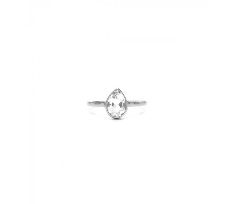 Clear Ring Zilver