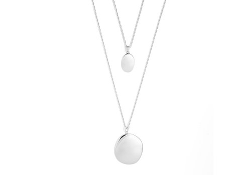 Connect Necklace Silver Plated