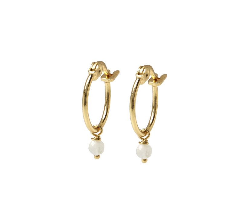 Sense Hoops Gold Plated