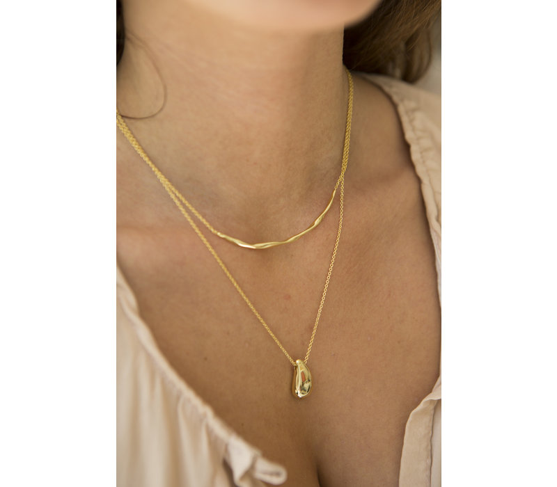 Breeze Necklace Gold Plated