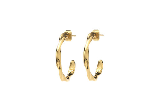 Helix Hoops Gold Plated